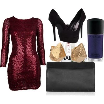 С какво да комбинирам  червена рокля за 2015