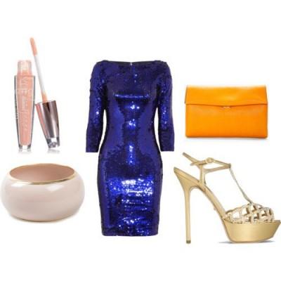 С какво да комбинирам синя рокля за 2015