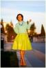 С какво да комбинирате жълта пола