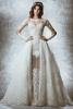 Булченска рокля с дантела и дълъг ръкав