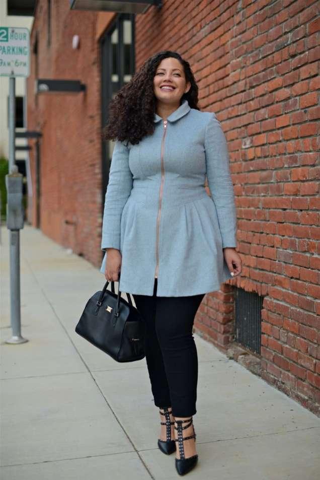 Елегантна комбинация със стилно палто и клин 2015