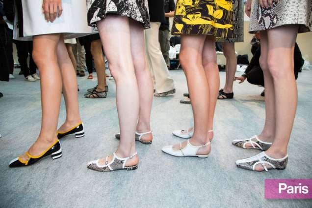 Равни обувки без пета с принт 2015