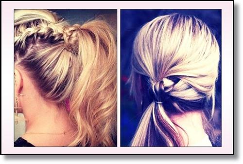 Прически с вързана коса прически за 2015