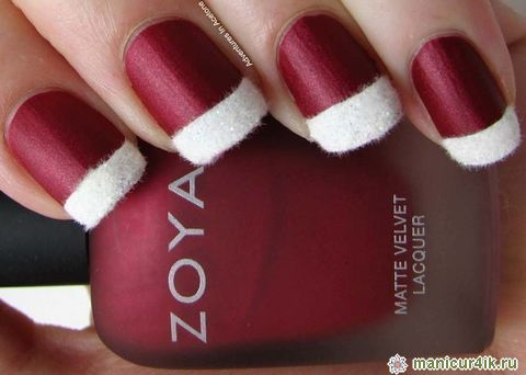 Маникюр стил Дядо Коледа 2014