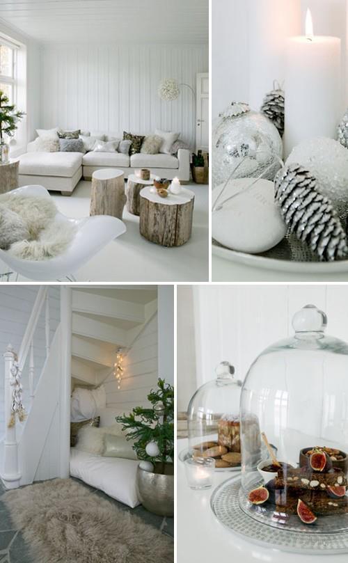 Коледна украса в бяло 2014