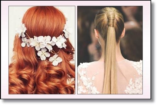 Цветя в косите прически за 2015