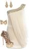Бяла рокля тип гръцка богиня 2014