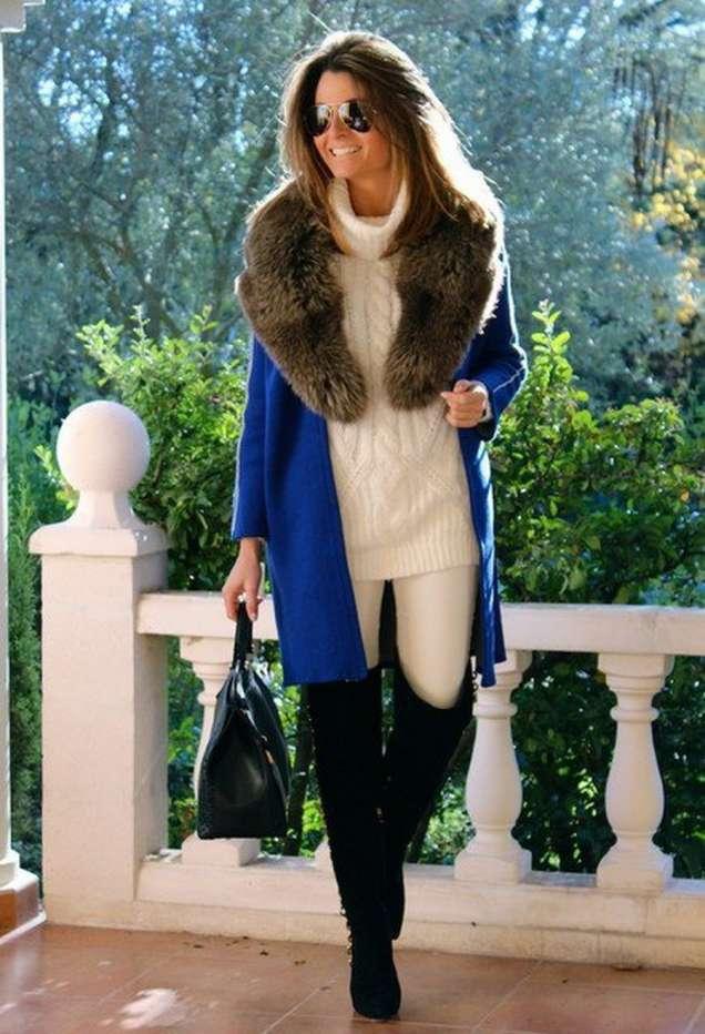 елегантно палто е ефирна яка 2015