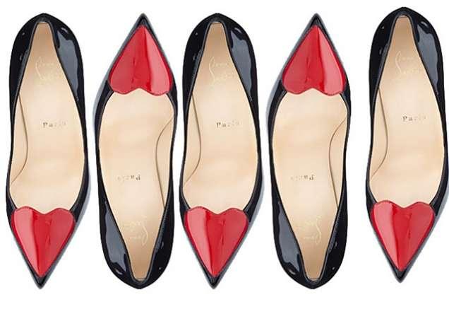 Равни лачени обувки със сърце 2015