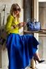 Уникална дълга пола в синьо