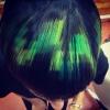 Пиксел прическа в зелено