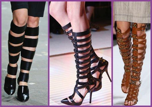 Римски сандали на ток 2015