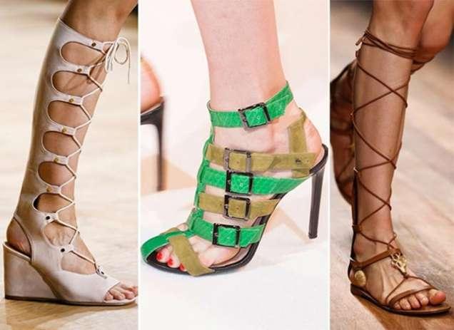 Римски сандали на платформа и цветни сандали