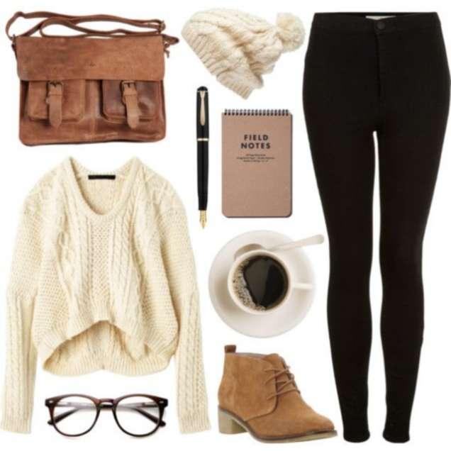 Комбинация с клин и широк пуловер