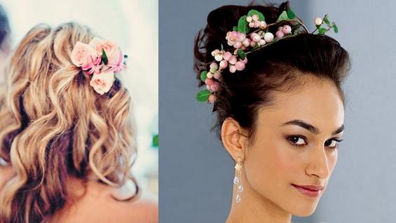 Красиви цветни украшения за косата