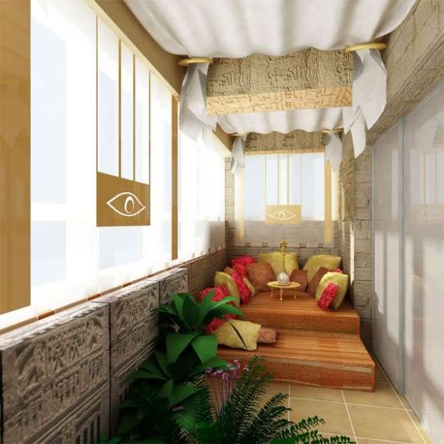 Остъклен балкон в турски стил