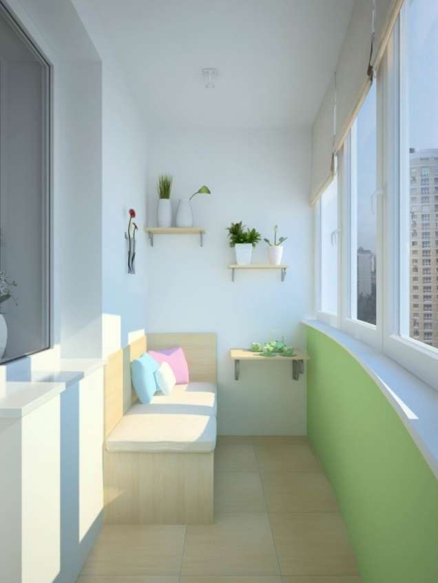 Остъклен балкон, като стая за почивка