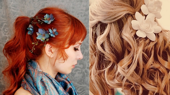 Цветя в косите