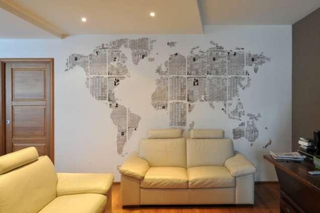 Карта на света като тапет
