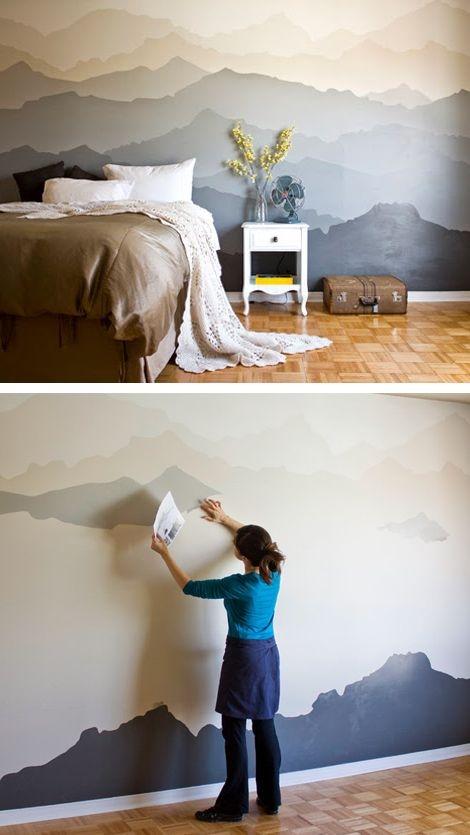 Красива стена като планина