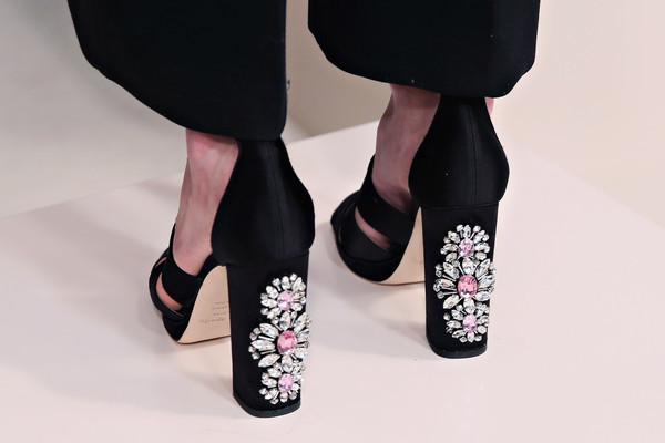 Обувки с висок ток и камъни 2015