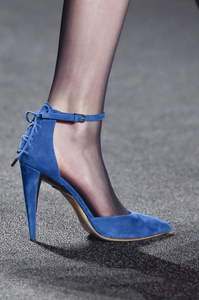 Секси обувки син велур 2015