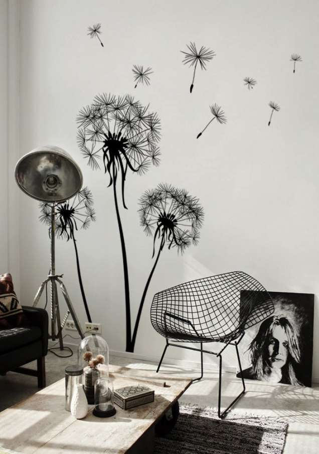 Красива стена в черно и бяло