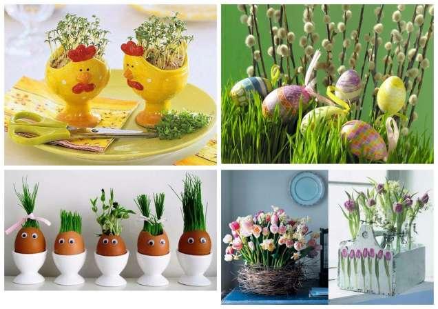 Великденски букети за украса на трапезата