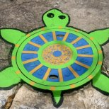 Изкуство на улицата -костенурка