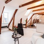 Двуетажен апартамент в Стокхолм - общ изглед на второ ниво