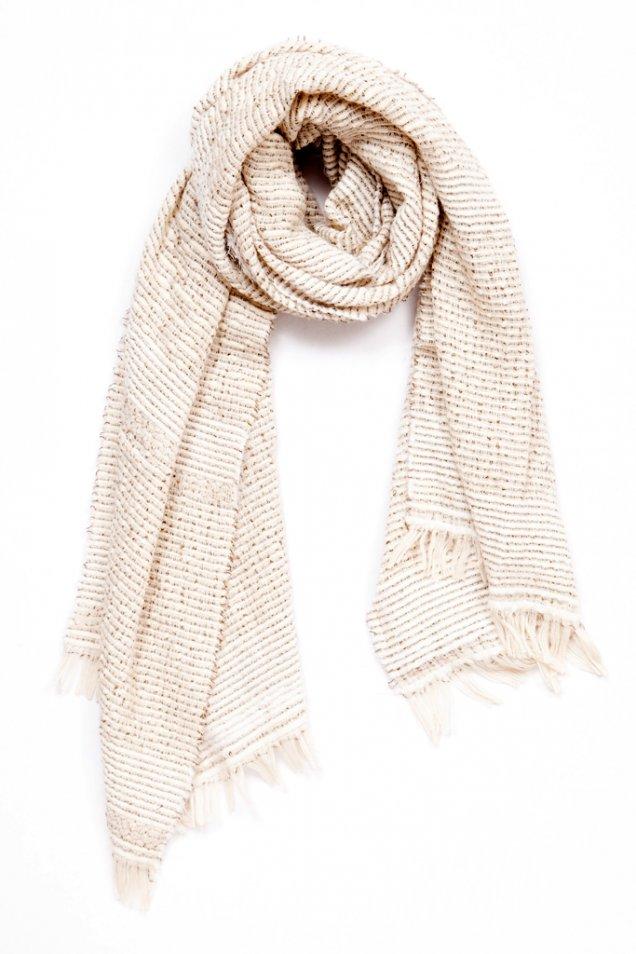 Мръсно бял шал меланж Rag and bone есен зима 2012