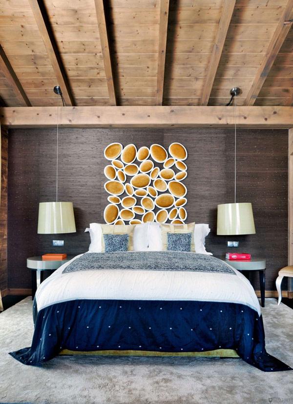 Дъбова хижа с изглед към Мон Блан спалня