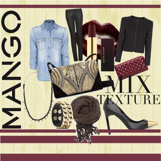 Идея за комбинации на стилове и текстури за зима 2012