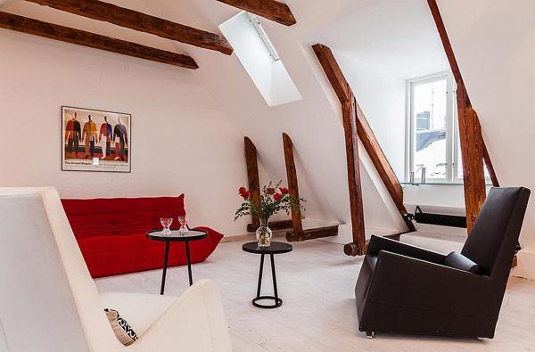 Двуетажен апартамент в Стокхолм - зона за релакс