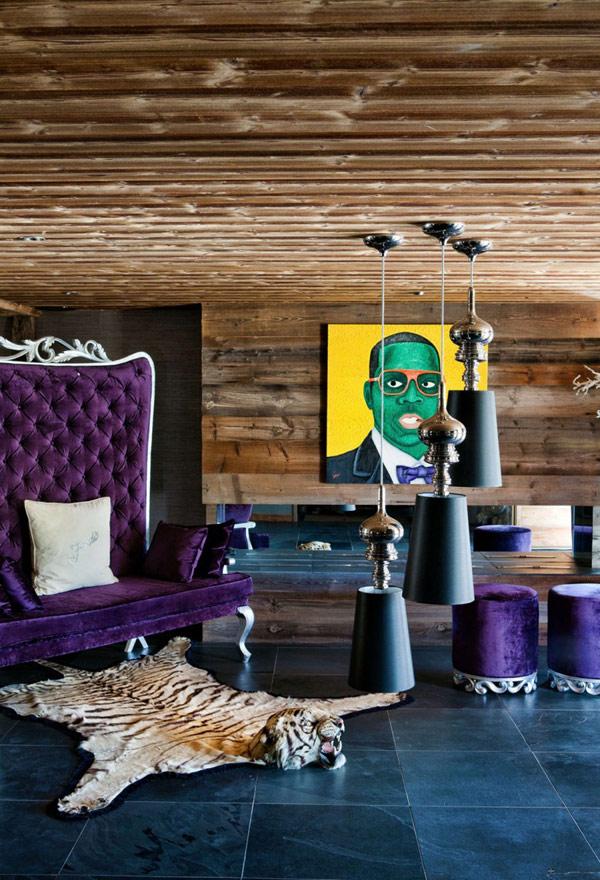 Дъбова хижа с изглед към Мон Блан кресло