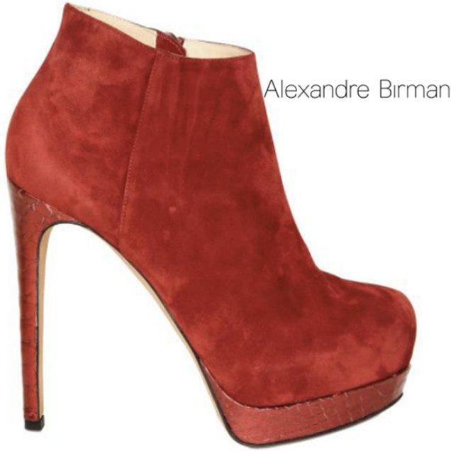 Цветни боти до глезена като тези червени Alexandre Birman