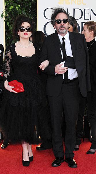 Хелена Бонъм Картър и Тим Бъртън Златни Глобуси 2013