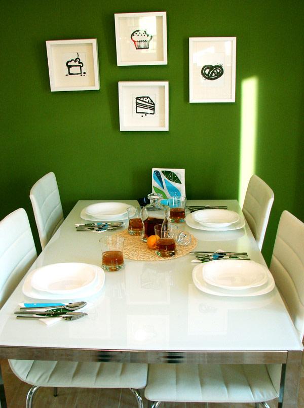 Свеж апартамент в Букурещ - маса за четирима