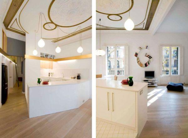 Просторен апартамент в  Барселона в бяло