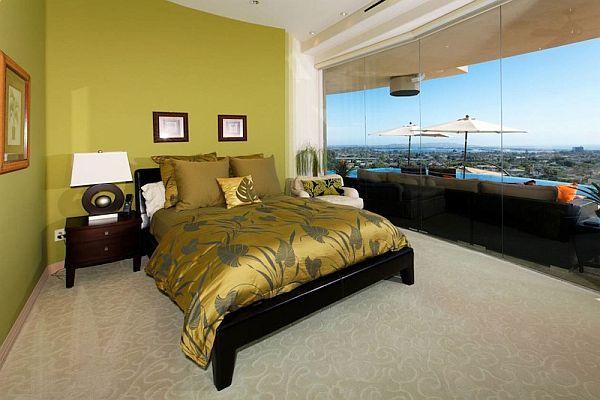 ИЗключителна резиденция - спалня цвят горчица