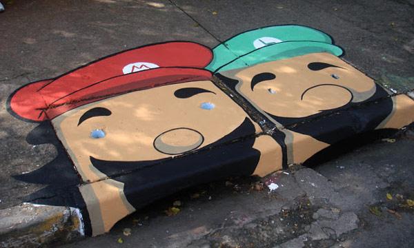 Изкуство на улицата - братята Марио