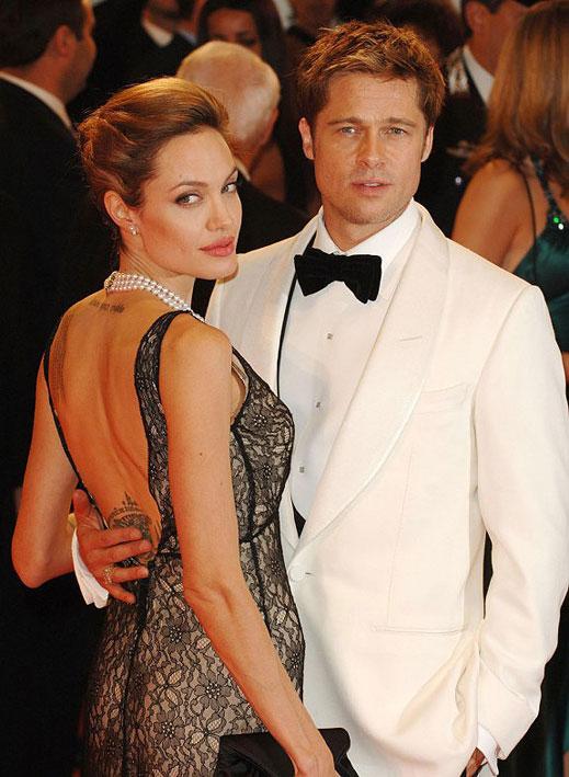 Анджелина Джоли и Брад Пит на червения килим