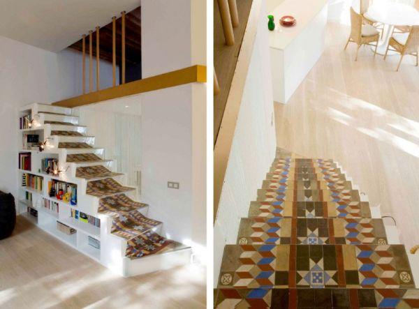 Просторен апартамент в  Барселона - интериорни стълби