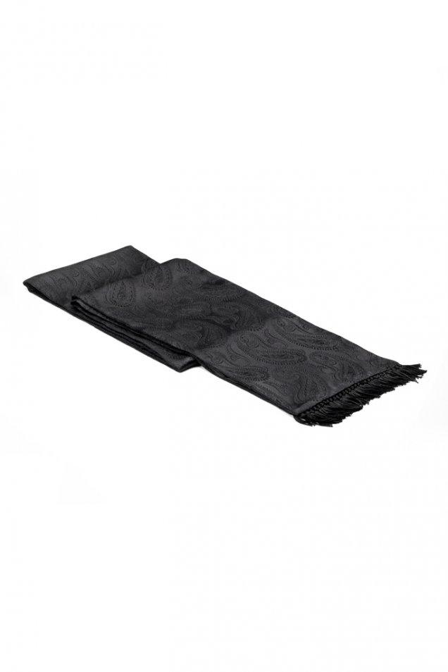 Черен фигурален шал правоъгълен Gucci есен зима 2012