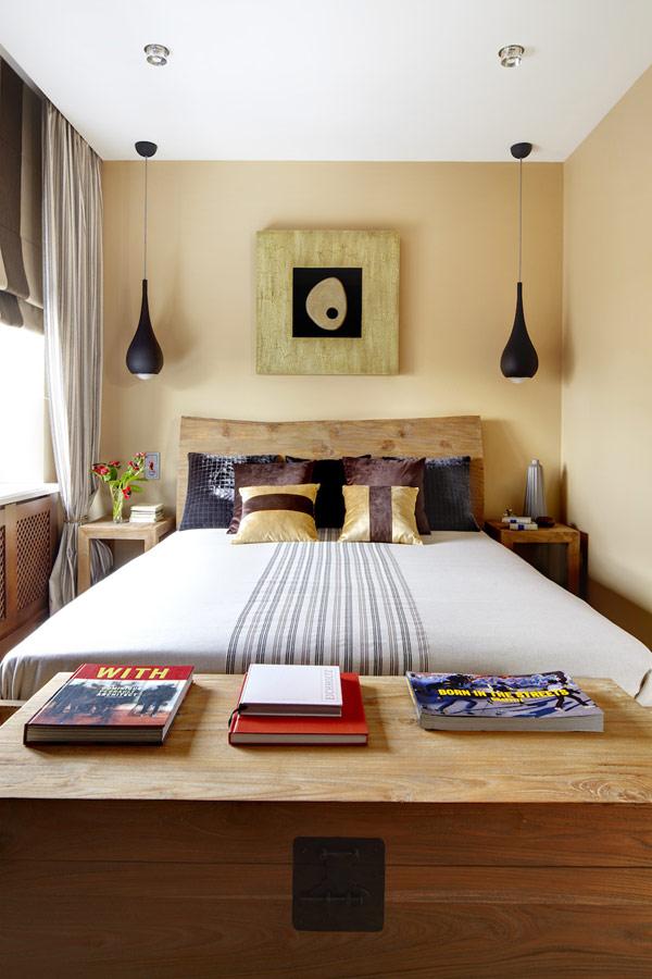 Съвременен уютен дизайн - спалня масивно дърво