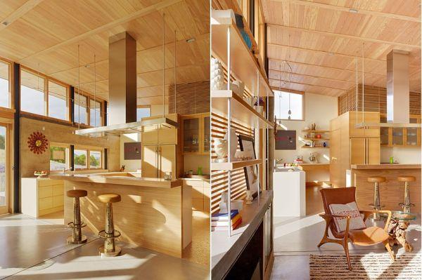 Къща гъсеница - кухня с плот