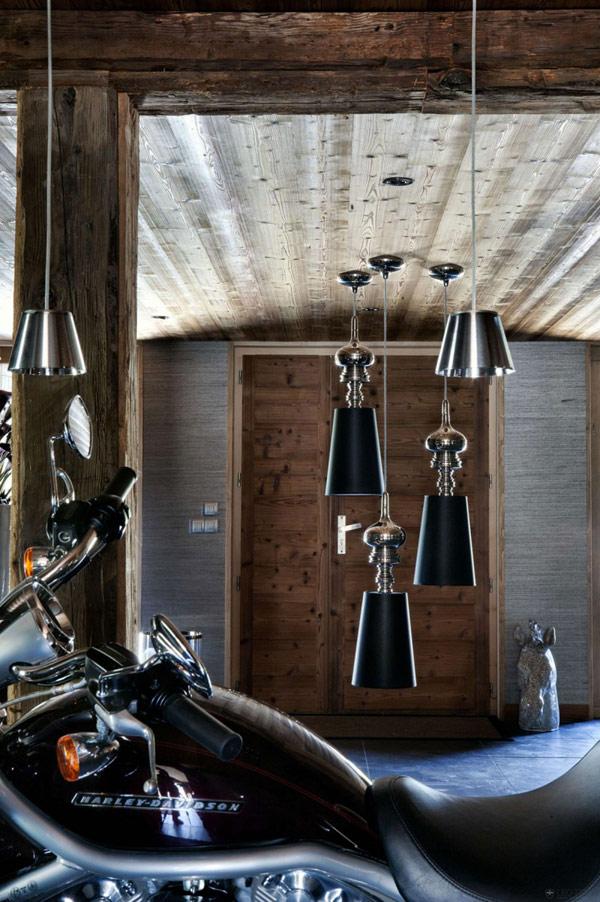 Дъбова хижа с изглед към Мон Блан интериор с мотор