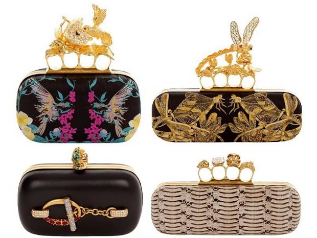 Alexander McQueen пролетта на 2013 чанти-клъч