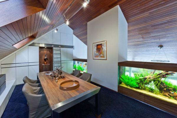 Вила с аквариум - втори етаж с аквариум