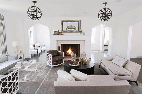 голям апартамент с интериор в бяло - хол